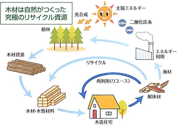 木材は自然が作った究極のリサイクル資源